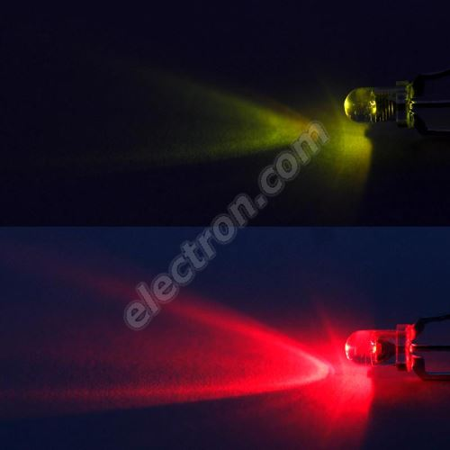 LED 3mm bi-color red-green 750/500mcd/30° Water Clear Lens Common Cathode Optosupply OSRGHC3131A