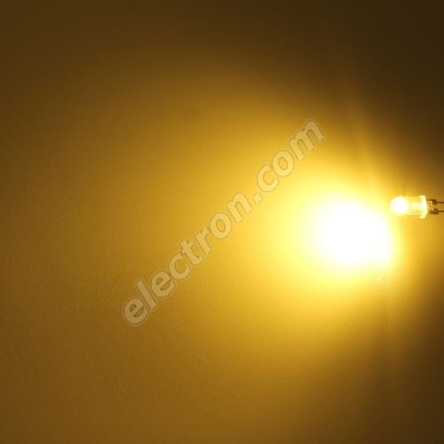 LED 5mm 0.5W Warm White Color 8000mcd/90° Water Clear Lens Hebei 05W580EW3C