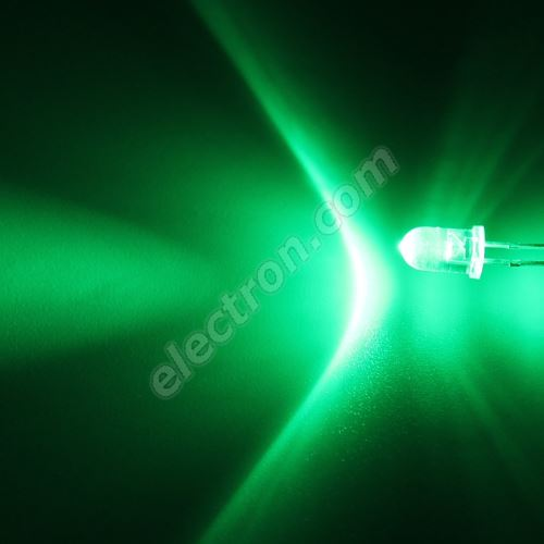 LED 5mm Green Color 22000mcd/13° Water Clear Lens Hebei 510PG2C