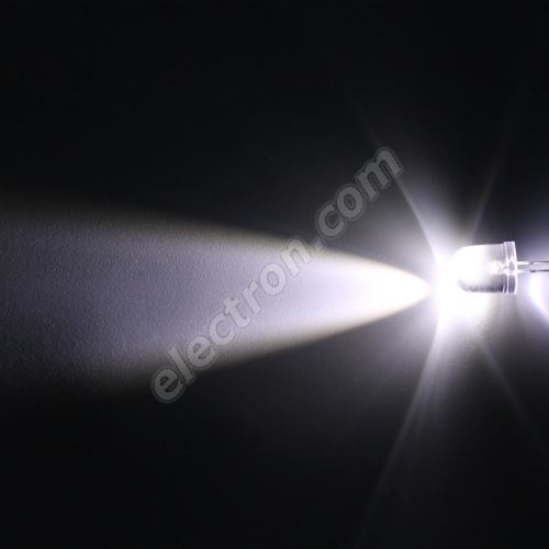 LED 10mm Cool White Color 18000mcd/23° Water Clear Lens Hebei 1025PWC