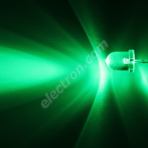 LED 8mm Green Color 33000mcd/20° Water Clear Lens Hebei 825PG2C
