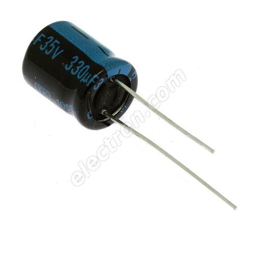 Electrolytic Radial E 330uF/35V 10x12.5 RM5 105°C Jamicon TKR331M1VGBCM