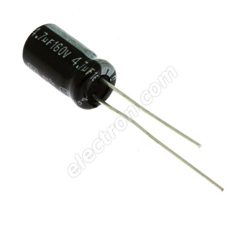 Electrolytic Radial E 4.7uF/160V 6.3x11 RM2.5 85°C Jamicon SKR4R7M2CE11M