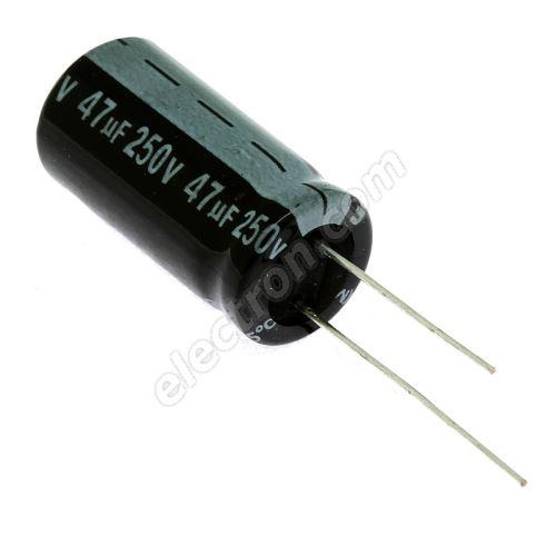Electrolytic Radial E 47uF/250V 13x26 RM5 85°C Jamicon SKR470M2EJ26M