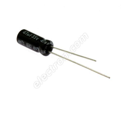 Electrolytic Radial E 47uF/35V 5x11 RM2 85°C Jamicon SKR470M1VD11M