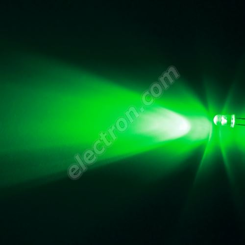 LED 5mm Green Color 16000mcd/30° Water Clear Lens Hebei 530XG2C