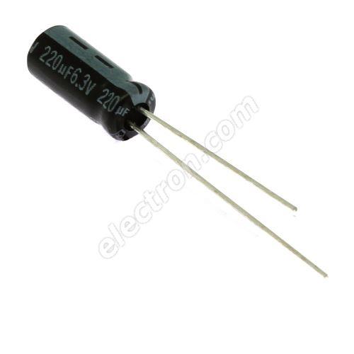 Electrolytic Radial E 220uF/6.3V 5x11 RM2 85°C Jamicon SKR221MOJD11M