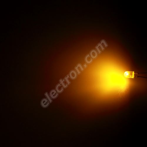 LED oval 5.2x3.8mm Yellow (Amber) Color 770mcd/(110/50°) Diffused Lens Hebei 7511MY8D-SB