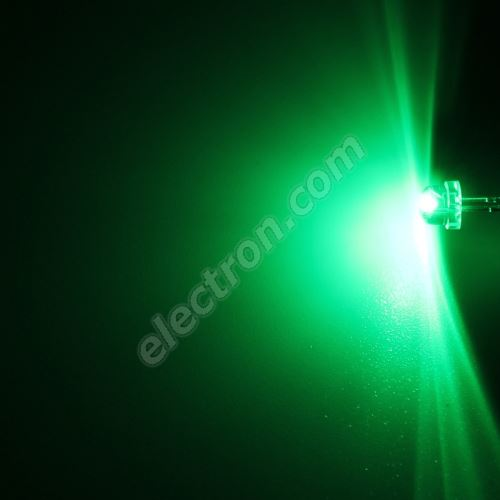 LED 4.8mm Green Color 550mcd/170° Water Clear Lens Hebei 412PG2C
